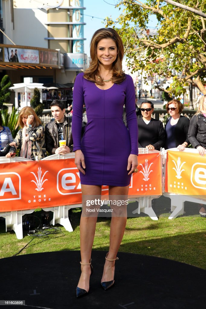 Maria Menounos visits Extra at The Grove on February 12, 2013 in Los Angeles, California.