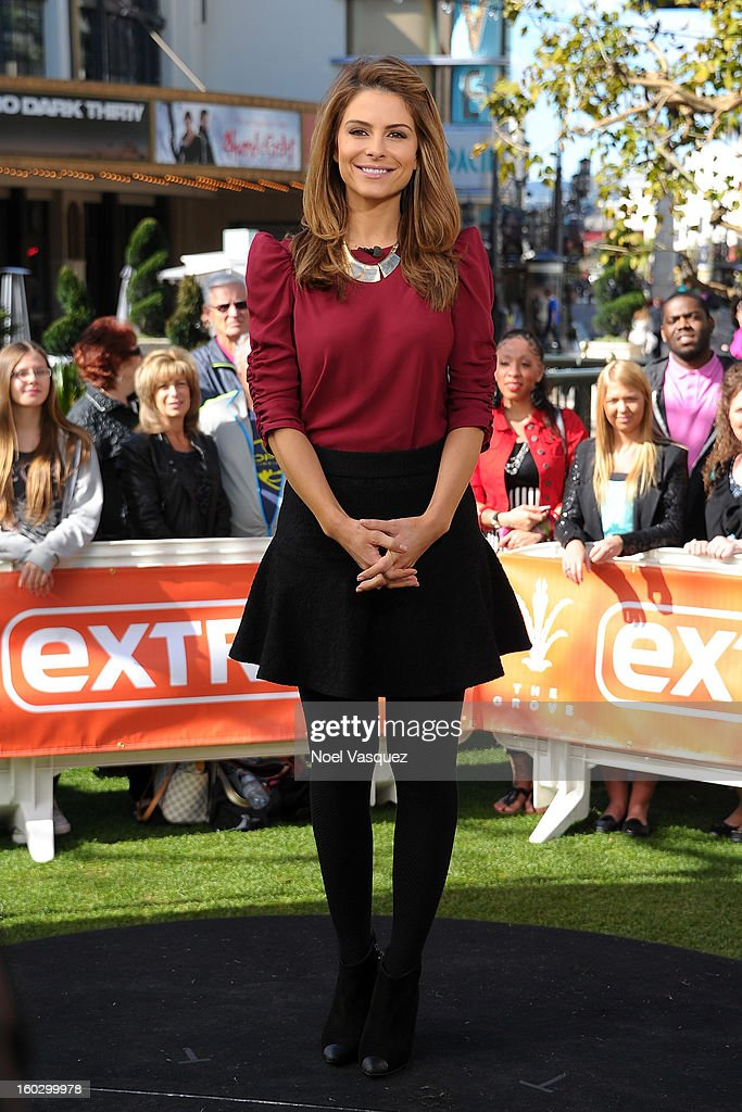 Maria Menounos visits Extra at The Grove on January 28, 2013 in Los Angeles, California.