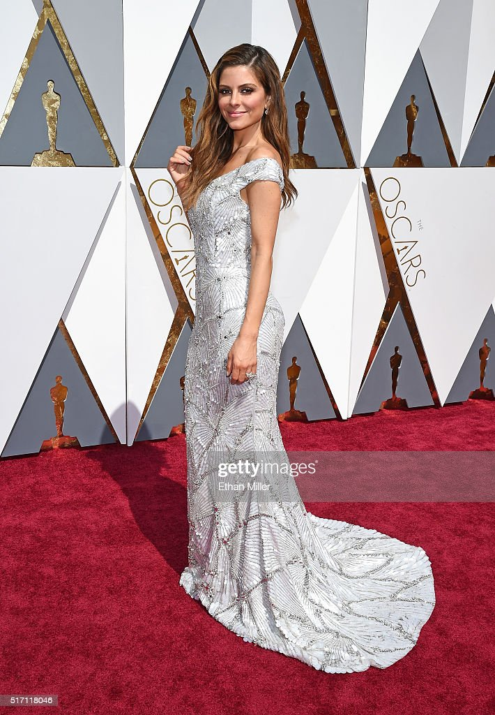 Maria Menounos wears a custom Christian Siriano for Stella Artois gown inspired by the limited-edition Chalices benefiting Water.org during the 88th Annual Academy Awards at Hollywood & Highland Center on February 28, 2016 in Hollywood, California.