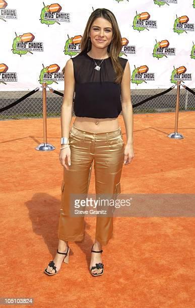 Maria Menudos during Nickelodeon's 16th Annual Kids' Choice Awards 2003 Arrivals at Barker Hanger in Santa Monica California United States