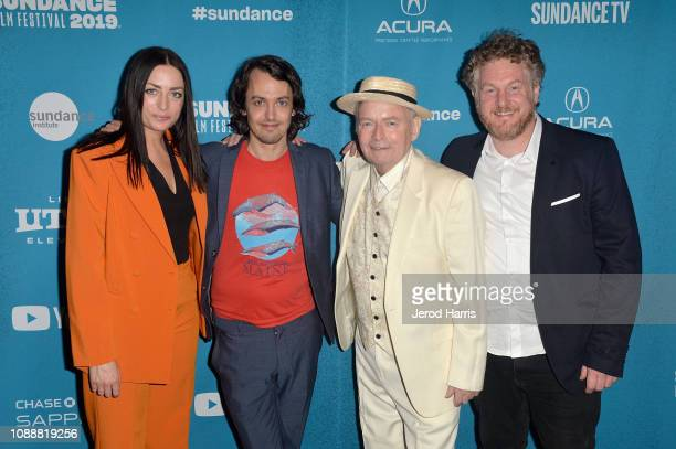 Maria Moller Christoffersen Johannes Nyholm and Peter Belli attend the Kokodi Kokoda Premiere during the 2019 Sundance Film Festival at Prospector...