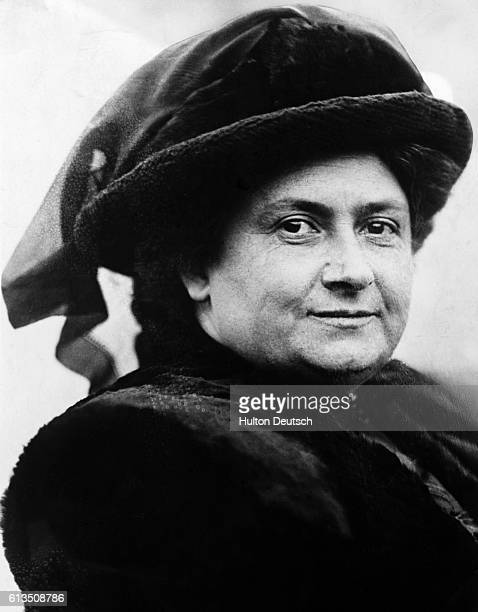 Maria Montessori the Italian educationalist and kindergarten teacher 1914