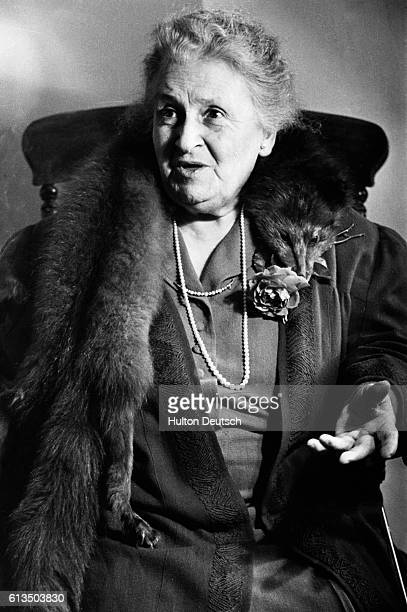 Maria Montessori the Italian Educationalist and Nursery teacher who founded Montessori schools worldwide which advocated a system of freedom of...