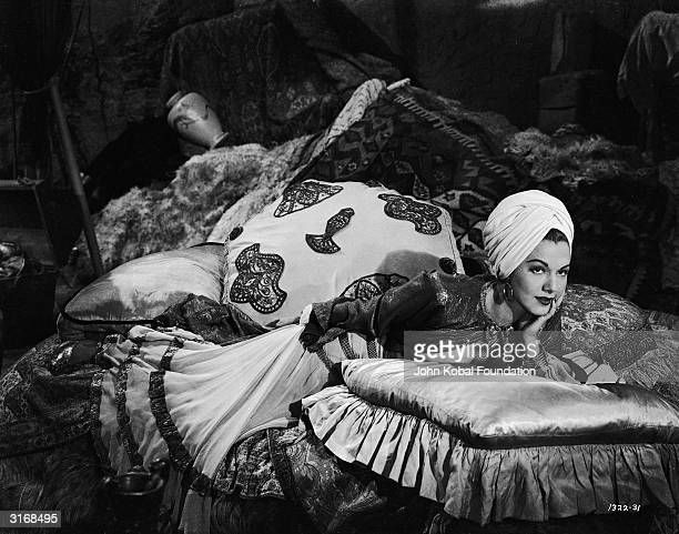 Maria Montez the 'Caribbean Cyclone' as Amara in 'Ali Baba and the Forty Thieves' directed by Arthur Lubin