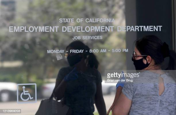 Maria Mora came to find information about her claim but found the California State Employment Development Department was closed due to coronavirus...