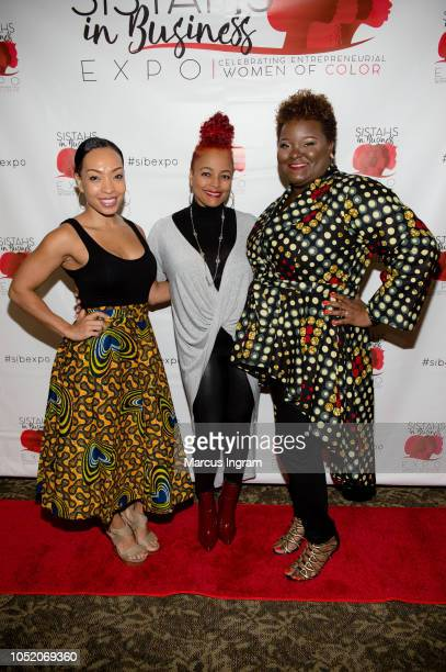Maria More Kim Fields and Aisha Taylor Issah attend the 2018 Sistahs in Business Expo at Dekalb Conference Center on October 13 2018 in Clarkston...