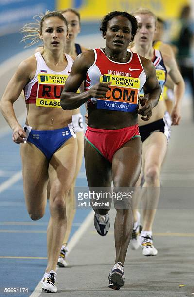 Maria Mutola competes in the womens 800 metres during the Norwich Union Union international athletics in the Kelvin Hall in Glasgow January 28 2006...