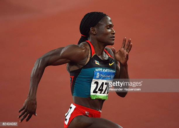 Maria Mutola of Mozambique competes in the Women's 800m Final at the National Stadium on Day 10 of the Beijing 2008 Olympic Games on August 18 2008...