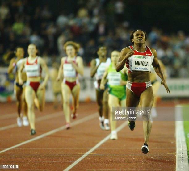 Maria Mutola of Mozambique wins the women's 800m at the IAAF Golden Spike meet in Ostrava Czech Republic