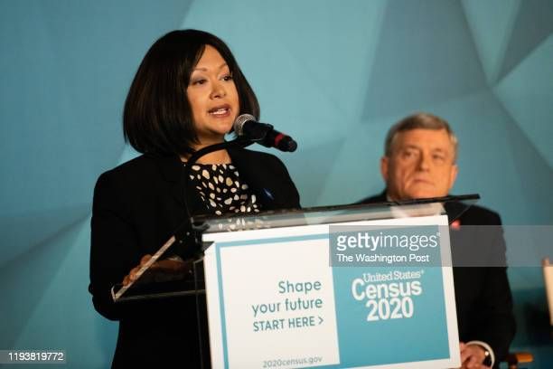 Maria OlmedoMalagon Program Manager 2020 Census Integrated Communications Contract US Census Bureau speaks during the event Others are Maria...