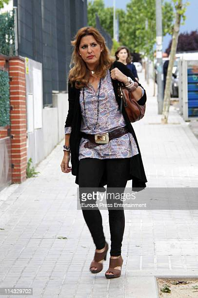 Maria Otero attends the funeral service for Fernando Moreno de Borbon at Santa Teres de Jesus Church on May 18 2011 in Colmenar Spain Fernando died...