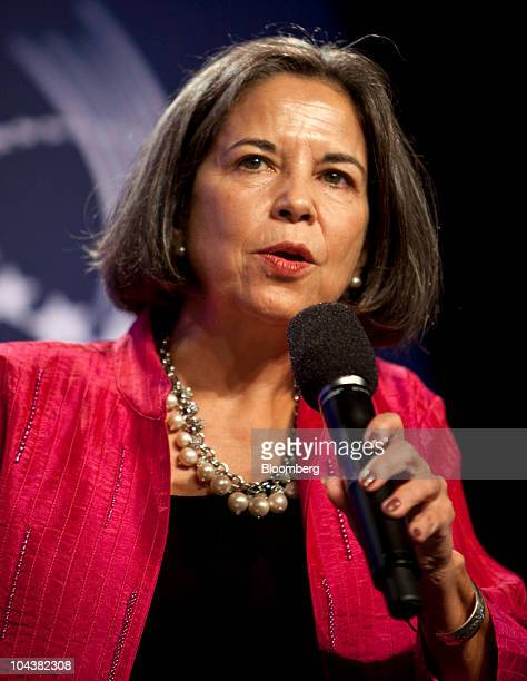 Maria Otero under secretary of state for democracy and global affairs at the US State Department speaks at the Clinton Global Initiative annual...