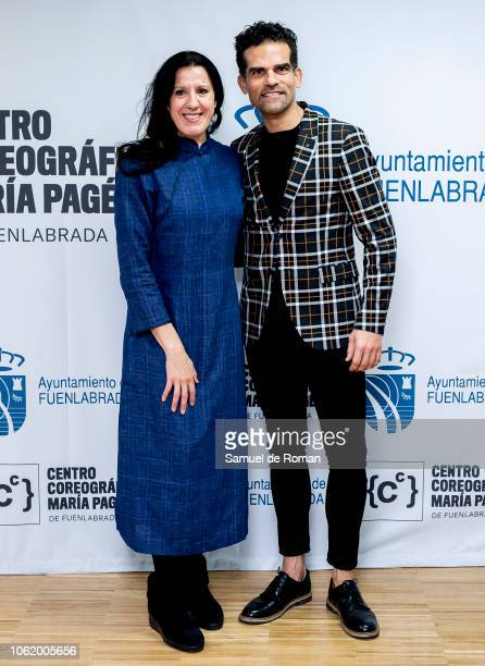 Maria Pages and Antonio Naharro attend Maria Pages' Choreographic Center Presentation in Madrid on November 15 2018 in Madrid Spain