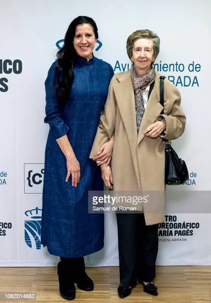 Maria Pages and Margarita Salas attend Maria Pages' Choreographic Center Presentation in Madrid on November 15 2018 in Madrid Spain