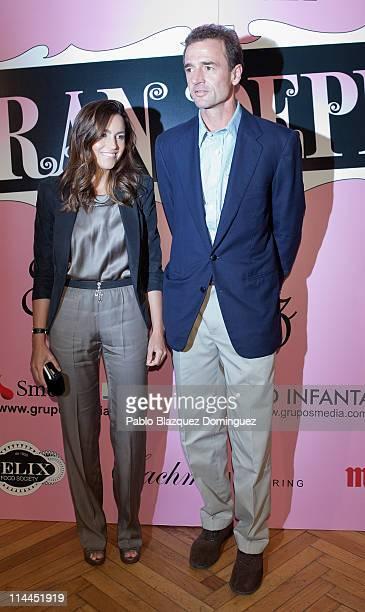 Maria Palacios and Alessandro Lequio attend 'La Gran Depresion' premiere at Infanta Isabel Theatre on May 19, 2011 in Madrid, Spain.
