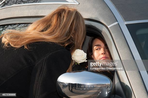 Maria Palacios and Ana Obregon attend the funeral service for Princess Sandra Torlonia grand daughter of King Alfonso XIII of Spain on January 08...
