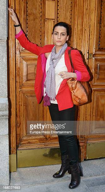 Maria Palacios atttends the babyshower party of Silvia Casas on April 18 2013 in Madrid Spain