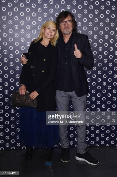 Maria Paola Danna and Claudio Cecchetto attend Opening Garage Italia Milano on November 7, 2017 in Milan, Italy.
