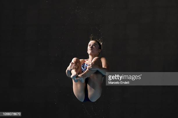 Maria Papworth of United Kingdom compete in the Mixed International Team Final during Day 11 of Buenos Aires Youth Olympic Games 2018 at Europe...