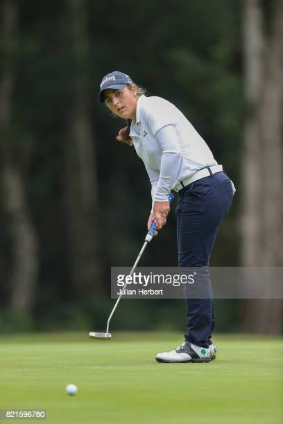 Maria Parra Luque plays a shot during The Berenberg Gary Player Invitational 2017 at Wentworth Club on July 24 2017 in London England