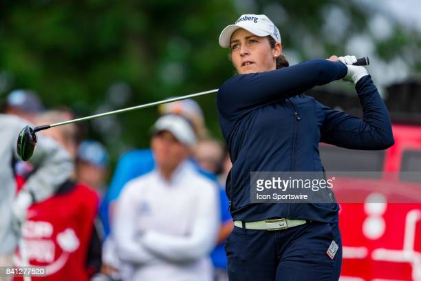 Maria Parra tees off on the 1st hole during the first round of the Canadian Pacific Women's Open on August 24 2017 at The Ottawa Hunt and Golf Club...