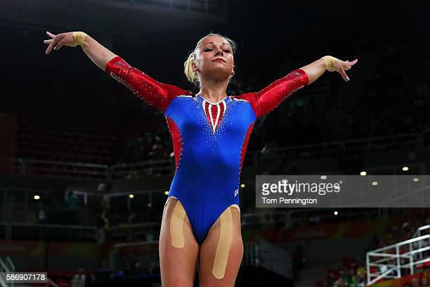 Maria Paseka of Russia competes on the vault during Women's qualification for Artistic Gymnastics on Day 2 of the Rio 2016 Olympic Games at the Rio...