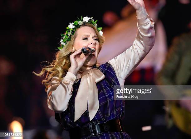 Maria Patricia Kelly during the television show 'Schlagerchampions Das grosse Fest der Besten' at Velodrom on January 12 2019 in Berlin Germany