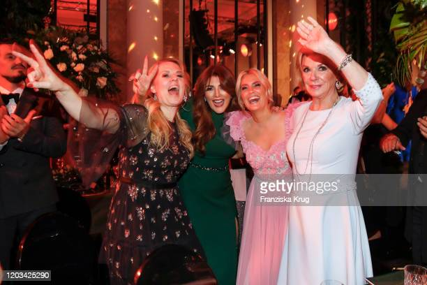 Maria Patricia Kelly Sedef Ayguen Jennifer Knaeble and Liz Mohn during the Titanic United Hearts at Titanic Hotel on February 25 2020 in Berlin...