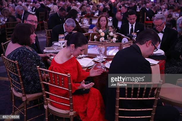 Maria Paula prays during the invocation at the start of the Women for a Great America Christian Inaugural Gala on January 19 2017 in Washington DC...