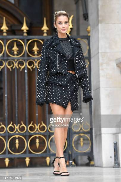 Maria Pedraza attends the Balmain Womenswear Spring/Summer 2020 show as part of Paris Fashion Week on September 27 2019 in Paris France