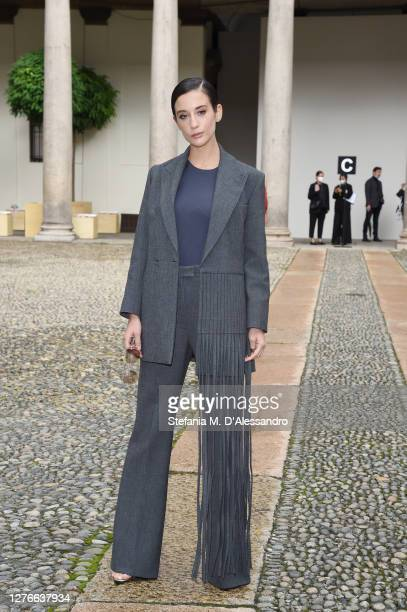 Maria Pedraza attends the BOSS Fashion Show during the Milan Fashion Week Spring/Summer 2021 on September 25, 2020 in Milan, Italy.