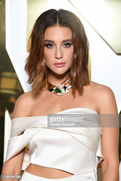 Maria Pedraza attends the Bvlgari Hight Jewelry Exhibition on June 13 2019 in Capri Italy