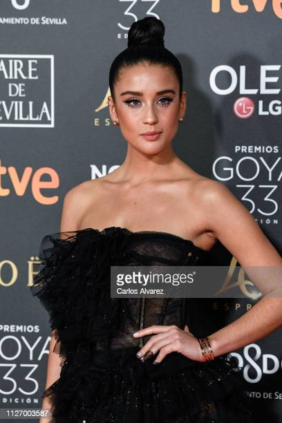 Maria Pedraza attends the Goya Cinema Awards 2019 during the 33rd edition of the Goya Cinema Awards at Palacio de Congresos y Exposiciones FIBES on...