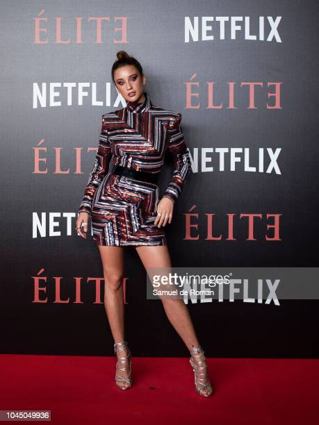 Maria Pedraza attends the World Premiere of Netflixs 'Elite' at Nubel on October 2 2018 in Madrid Spai