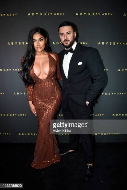 Maria Perez and Adam Zreika attend Abyss By Abby Arabian Nights Collection Launch Party at Casita Hollywood on January 21 2020 in Los Angeles...