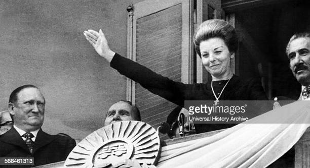 Maria Peron known as Isabel Peron is a former President of Argentina wife of President Juan Peron Following her husband's death in office in 1974...