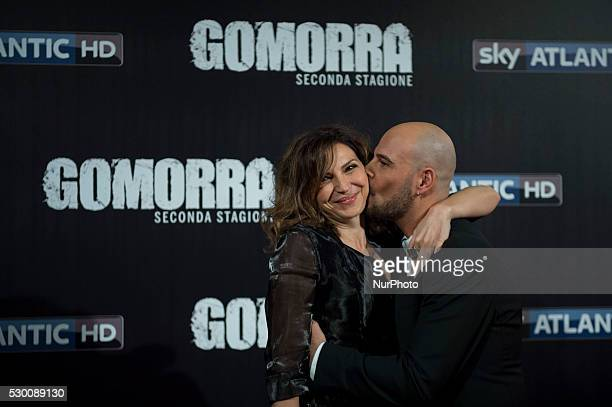 Maria Pia Calzone and Marco D'Amore attends the 'Gomorra 2 - La serie' on red carpets at The Teatro dell'Opera in Rome, Italy on May 10, 2016.