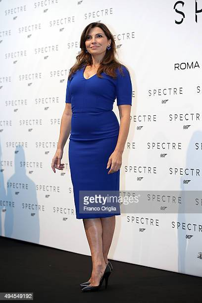Maria Pia Calzone attends a red carpet for 'Spectre' on October 27 2015 in Rome Italy