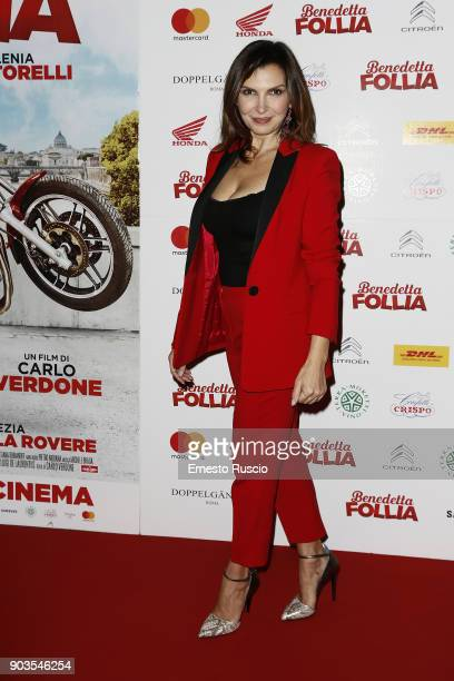 Maria Pia Calzone attends 'Benedetta Follia' photocall on January 10 2018 in Rome Italy