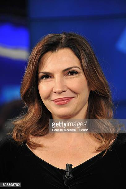 Maria Pia Calzone attends Porta a Porta Tv Show on November 15 2016 in Rome Italy