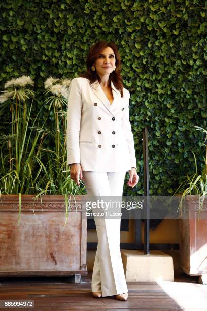 Maria Pia Calzone attends 'Sirene' tv show photocall at Hotel Bernini on October 24 2017 in Rome Italy