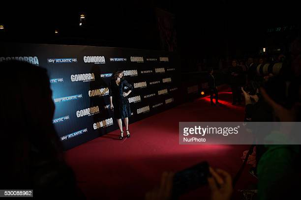 Maria Pia Calzone attends the 'Gomorra 2 - La serie' on red carpets at The Teatro dell'Opera in Rome, Italy on May 10, 2016.