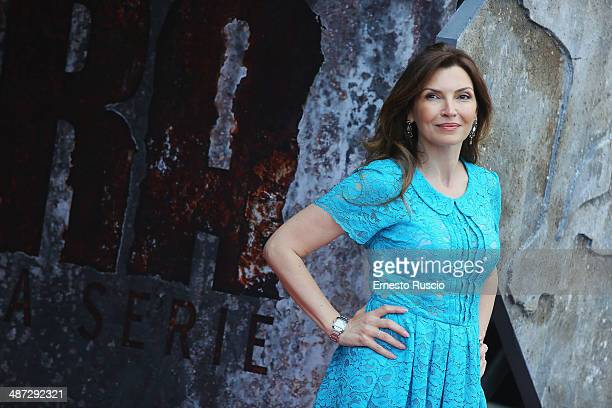 Maria Pia Calzone attends the 'Gomorra - La Serie' photocall at The Space Cinema Moderno on April 29, 2014 in Rome, Italy.