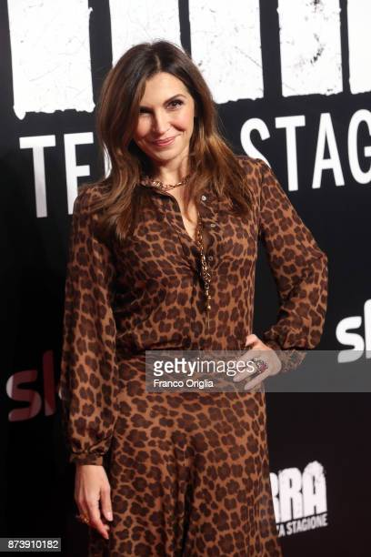 Maria Pia Calzone attends the 'Gomorra' premiere at Ex Dogana on November 13 2017 in Rome Italy