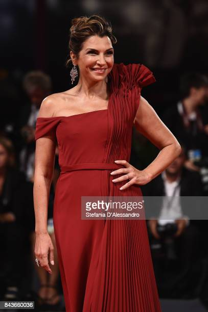 Maria Pia Calzone walks the red carpet ahead of the 'Loving Pablo' screening during the 74th Venice Film Festival at Sala Grande on September 6 2017...