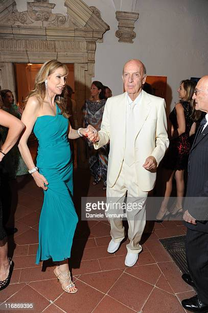 Maria Pia Sforza Ruspoli and Lillo Sforza Ruspoli attend the 'Fondazione Roma Mediterraneo Dinner' during the 57th Taormina Film Fest 2011 on June 18...