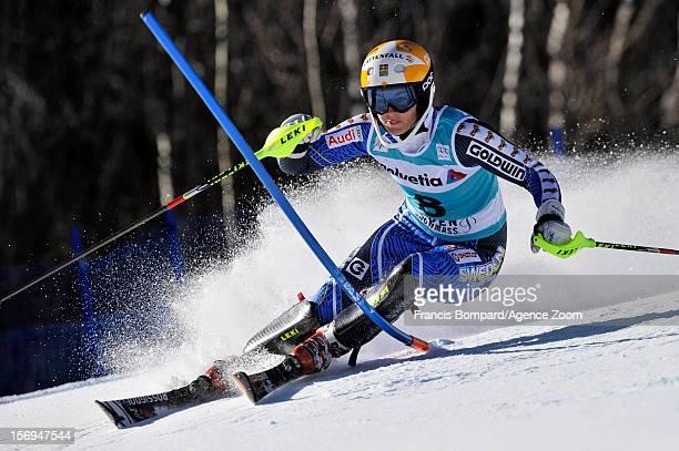 Maria PietilaeHolmner of Sweden competes during the Audi FIS Alpine Ski World Cup Women's Slalom on November 25 2012 in Aspen Colorado