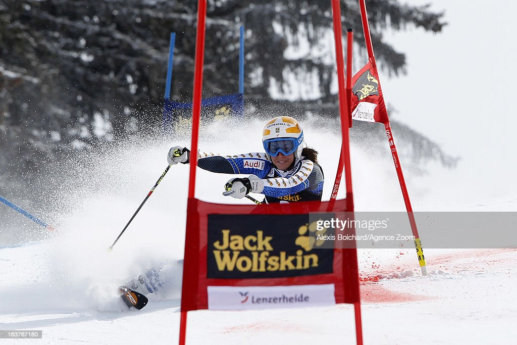 Maria Pietilae-Holmner of Sweden competes during the Audi FIS Alpine Ski World Cup Nation's Team event on March 15, 2013 in Lenzerheide, Switzerland.