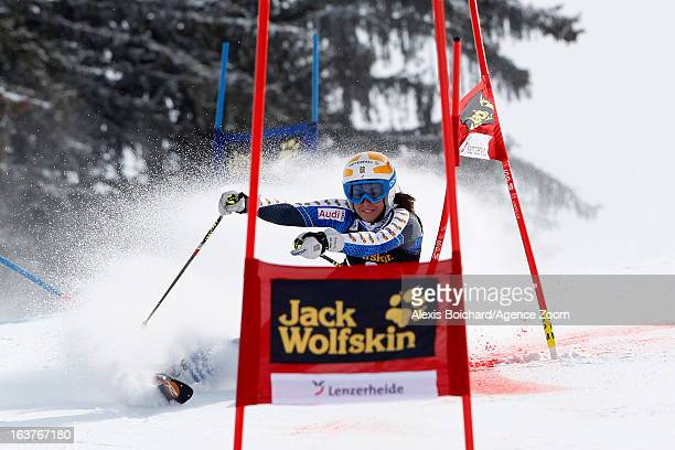 Maria PietilaeHolmner of Sweden competes during the Audi FIS Alpine Ski World Cup Nation's Team event on March 15 2013 in Lenzerheide Switzerland
