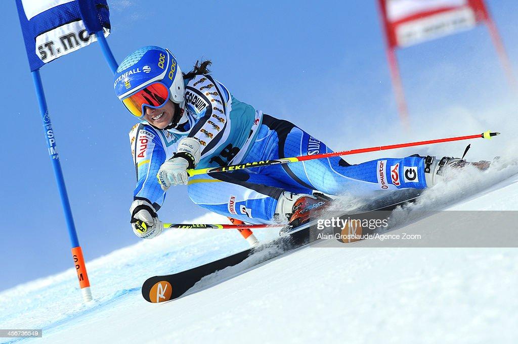 Maria Pietilae-Holmner of Sweden competes during the Audi FIS Alpine Ski World Cup Women's Giant Slalom on December 15, 2013 in St. Moritz, Switzerland.